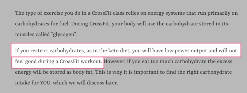 keto is bad for crossfit bloggers writing about low carbohydrates