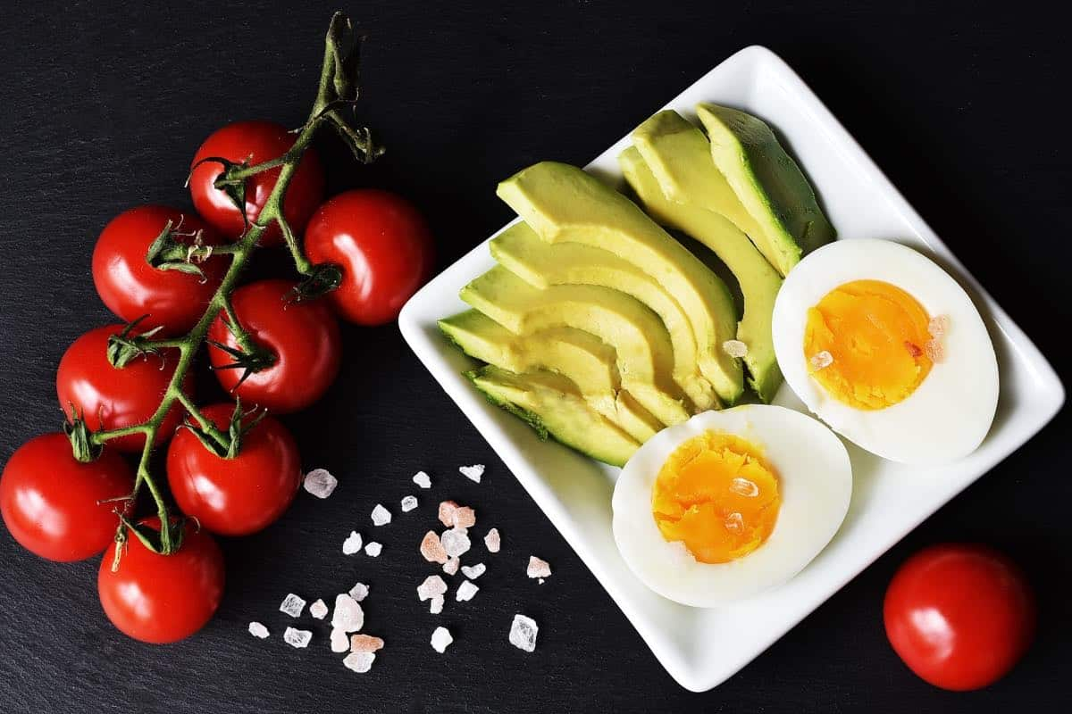 typical keto diet meal or snack